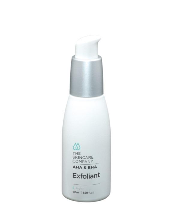 skincare company exfoliant with hydroxy acids AHA & BHA
