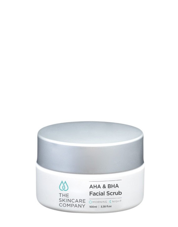 AHA and BHA exfoliating facial scrub by the skincare company