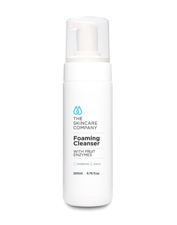 skincare company facial foaming cleanser with fruit enzymes