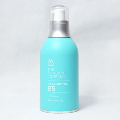 A blue bottle of Hyaluronic B5 Serum